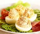 Фаршированные яйца с грибами и ароматом базилика