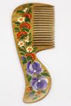 Специальный подарок к наборам Вивасан. Расписная деревянная расческа